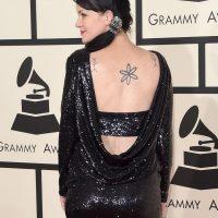 Aprovechó de lucir sus tatuajes Foto:Getty Images