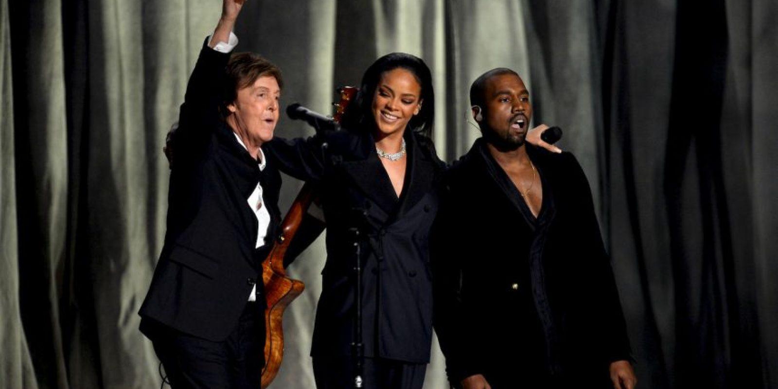 En su presentación junto a Rihanna y Kanye West Foto:Getty Images