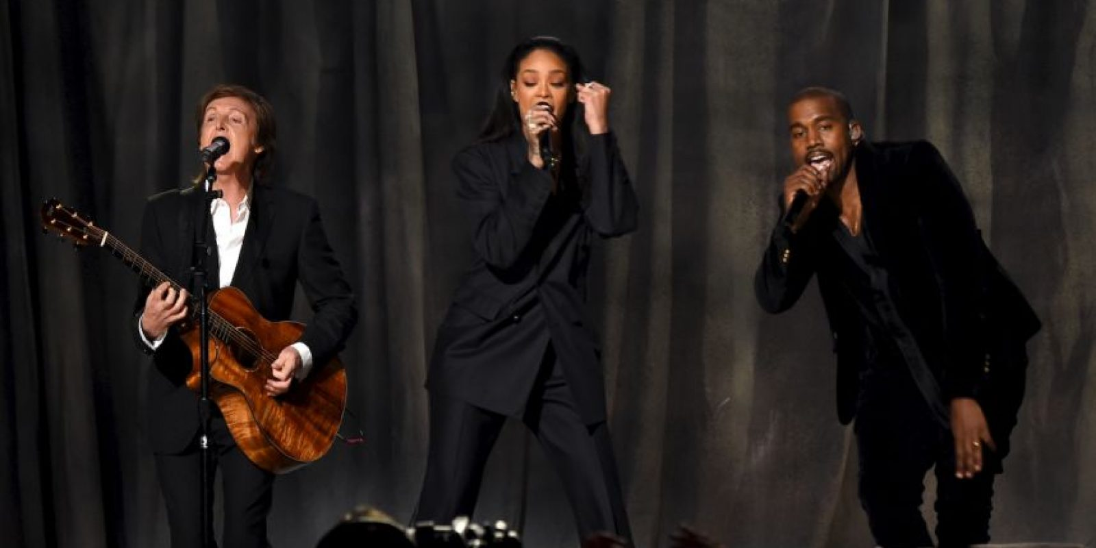 Junto a Rihanna y Paul McCartney Foto: Getty Images