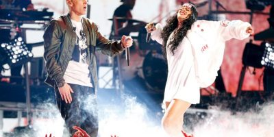 Mejor colaboración rap: The Monster – Eminem con Rihanna Foto: Getty Images