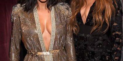 """FOTOS: Kanye West y Kim Kardashian posan junto a sus """"enemigos"""" en los Grammy"""