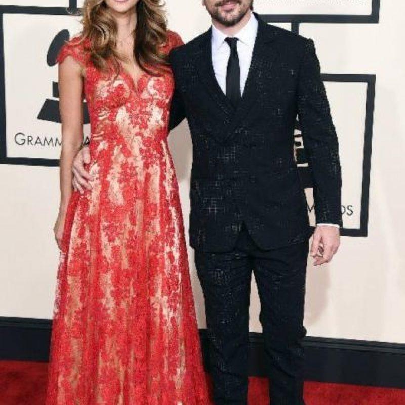 Juanes y su esposa Karen Martinez, sobrios y sin desentonar. Foto:Getty Images