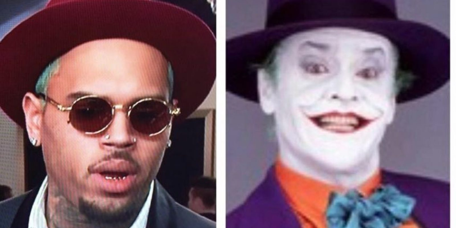 Chris Brown, comparado con el Joker. Foto: Twitter