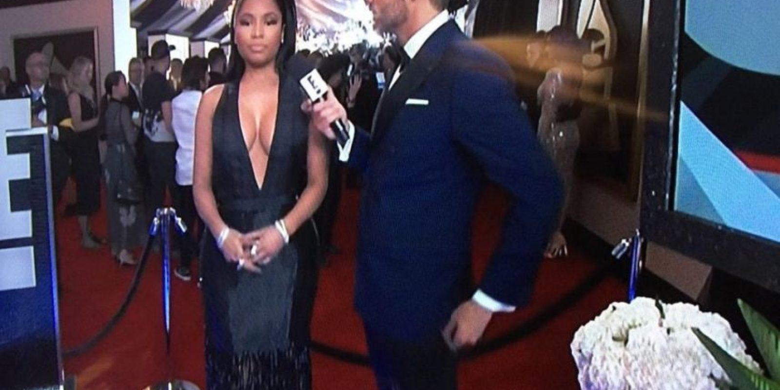 Aunque ya no parece un Oompa Loompa, Nicki Minaj ahora se decanta por ser Morticia Addams. Foto:Twitter