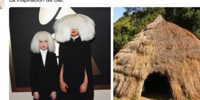Sia, criticada por su peinado. Foto:Twitter