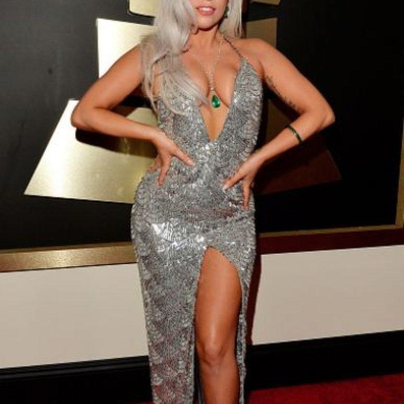 Lady Gaga, platinada y exuberante. Foto:Getty Images
