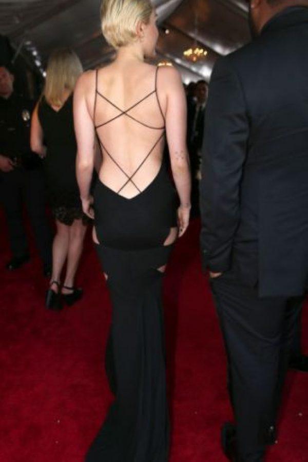 Miley Cyrus, de negro y reveladora. Foto:Getty Images