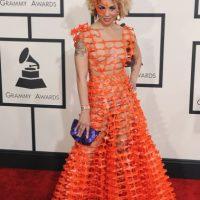 Un vestido de su amigo personal, el diseñador Andrés Soriano. Foto:Getty Images