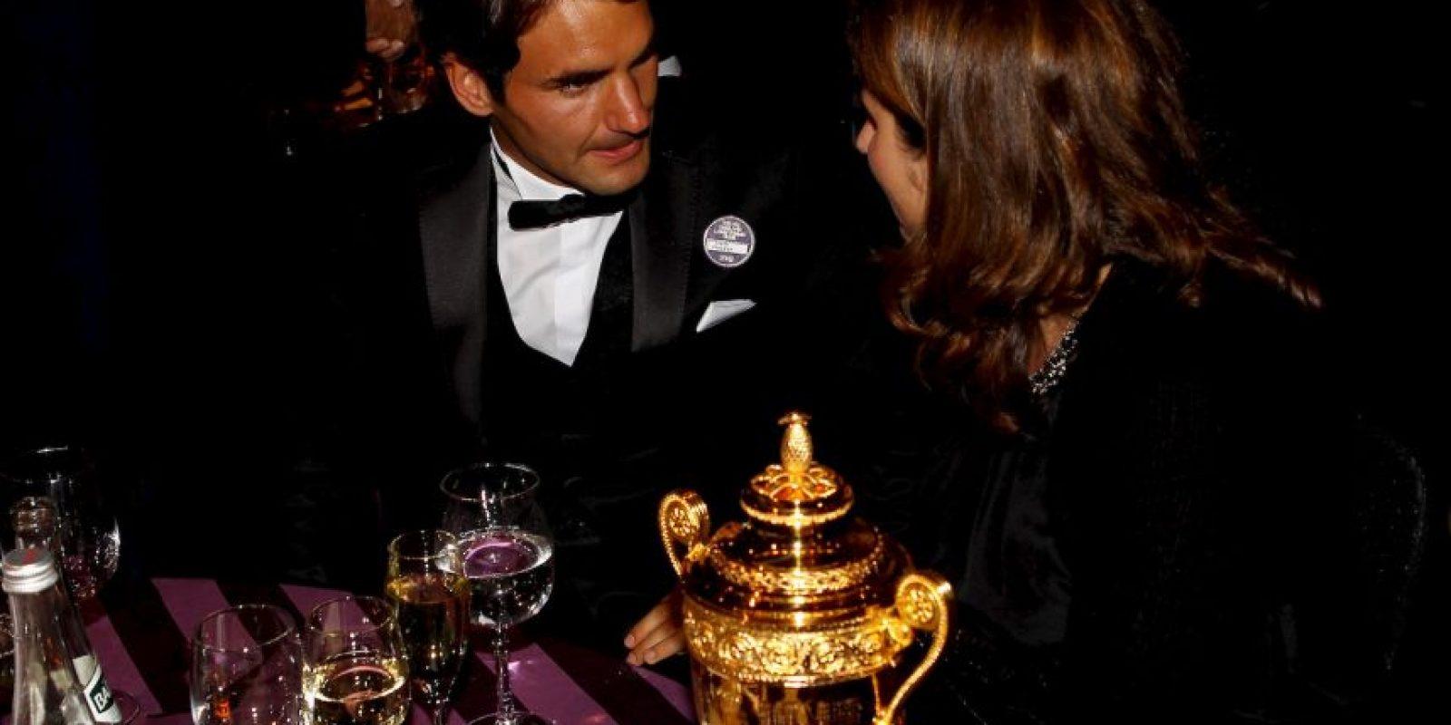Roger Federer y Mirka Vavrinec Foto:Getty