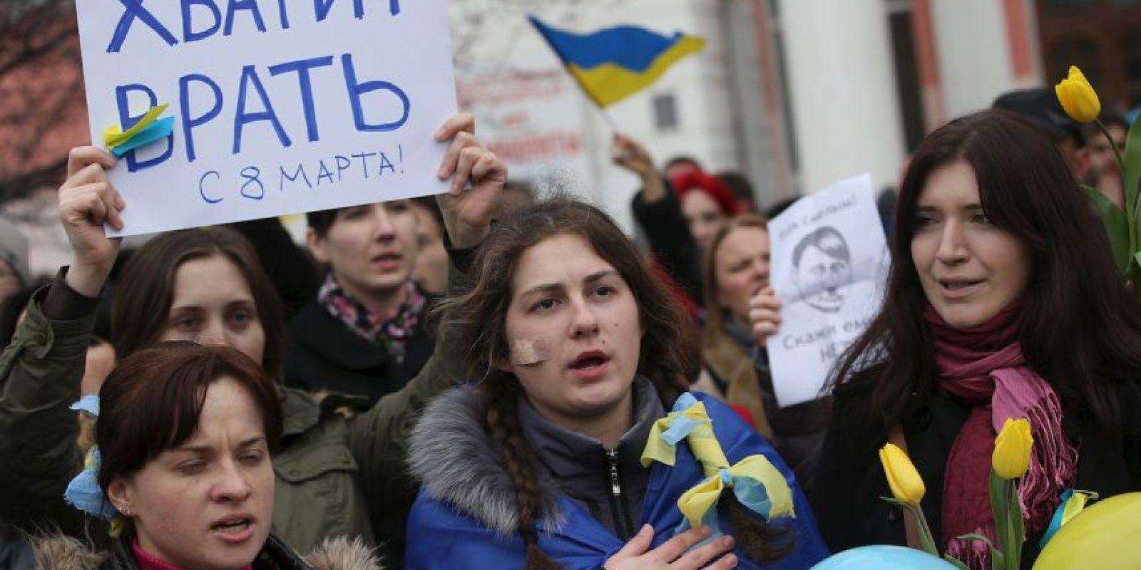 Muchos protestas se han realizado alrededor del mundo para pider la paz. Foto:Getty Images