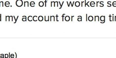 Explicó que encontró el tuit gracias a uno de sus trabajadores. Foto:Twitter