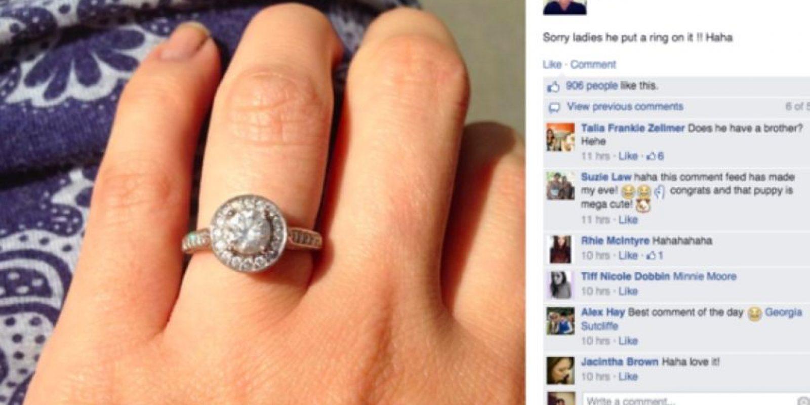 Pero el adoptante ya tiene prometida. Vive con ella. Foto:Facebook