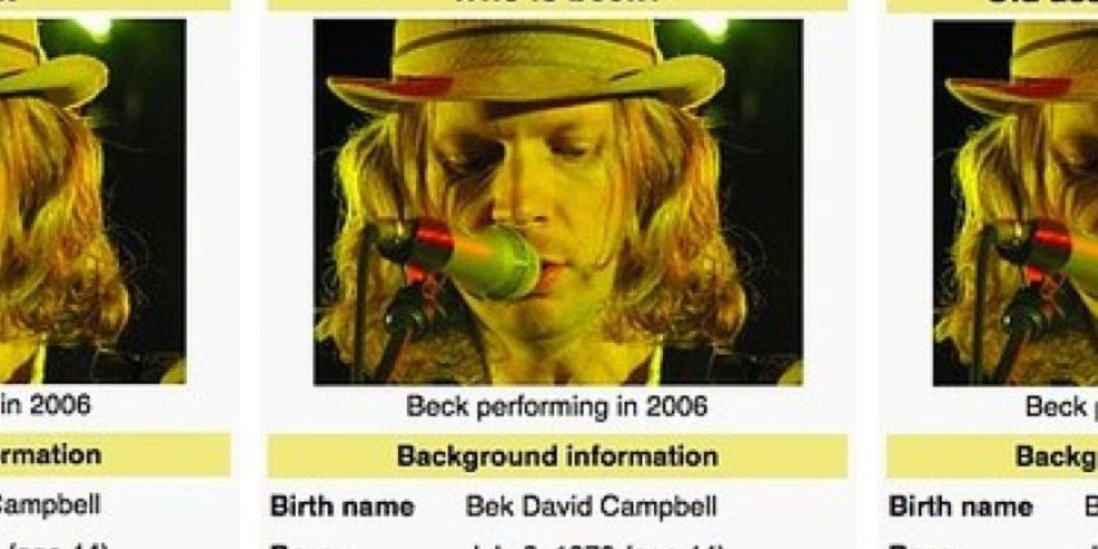 """Le dijeron a Beck """"Irrelevante"""", """"Viejo que Roba Grammys"""", """"¿Quién es Beck?"""" Foto:Wikipedia"""