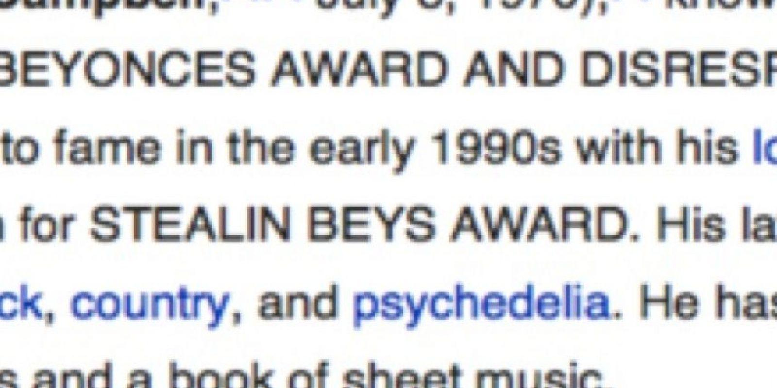 """En su biografía pusieron """"se especializa en robar Grammys e irrespeta el arte negro"""" Foto:Wikipedia"""