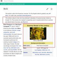 """Pero los fans de Beck contraatacaron: """"Este artículo es sobre el artista que ha cosechado tres décadas de éxitos por sí mismo. Para la mujer que necesitó 5 productores y 2 vocalistas detrás de ella para hacer algo decente, váyanse a Beyonce"""" Foto:Wikipedia"""