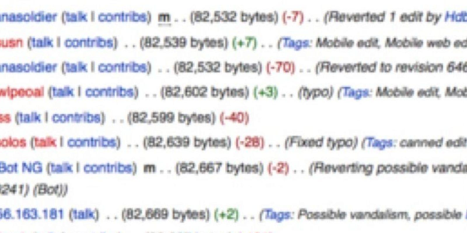 Wikipedia comenzó a banear a los que hackearon. Foto:Wikipedia