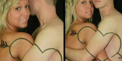 Tatuaje de amor Foto:Asumelol