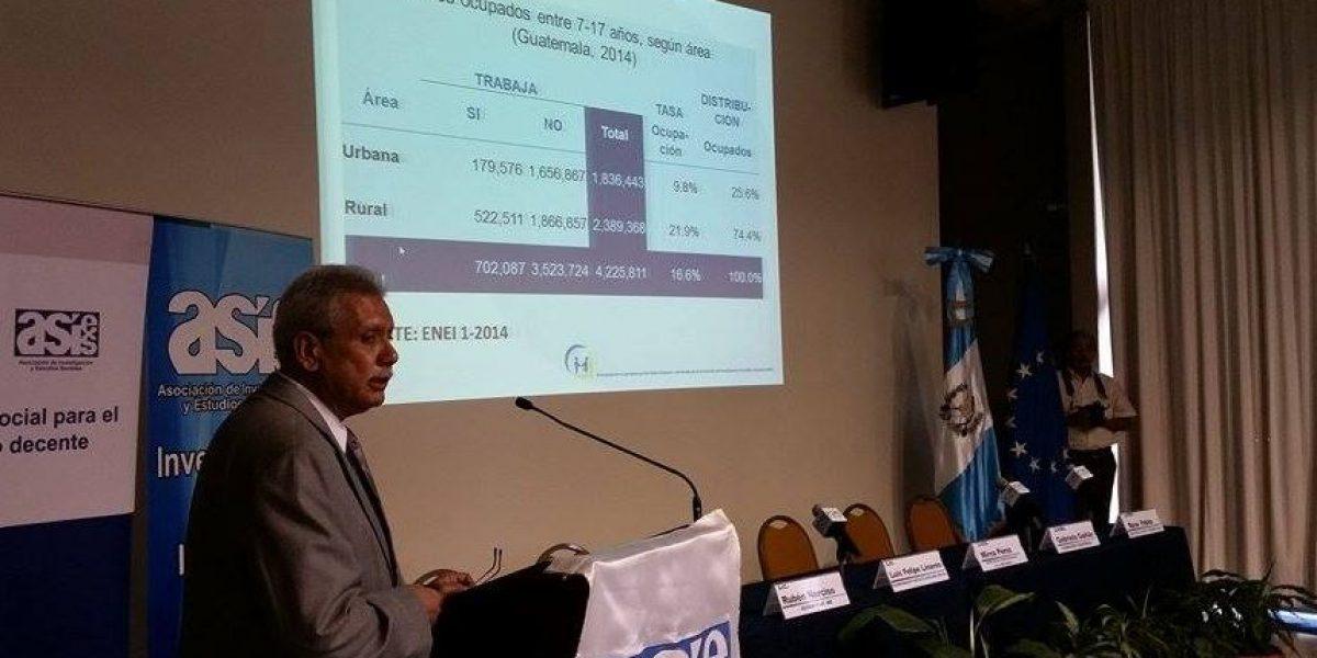 Más de 700 mil menores trabajan en Guatemala
