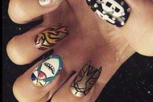 Esta mujer diseñó sus uñas inspirada en el show de medio tiempo de Katy Perry Foto:Twitter