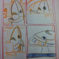 Alguien trabaja en el boceto de un cómic Foto:Twitter