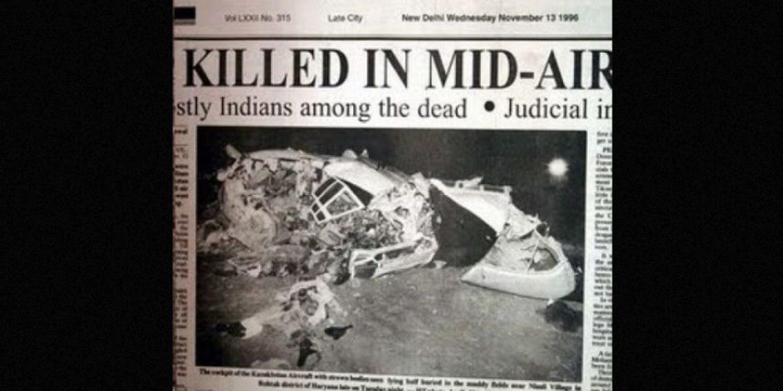3. Charkhi Dadri – 1996. Fallecieron 349 personas en un choque entre dos aviones Foto:Wikipedia