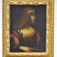 La pintura tiene algunos rasgos de las obras de Leonardo como la luminosidad o la sonrisa del personaje. Foto:AP