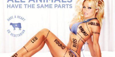La modelo y actriz estadounidense Pamela Anderson Foto:PETA.org