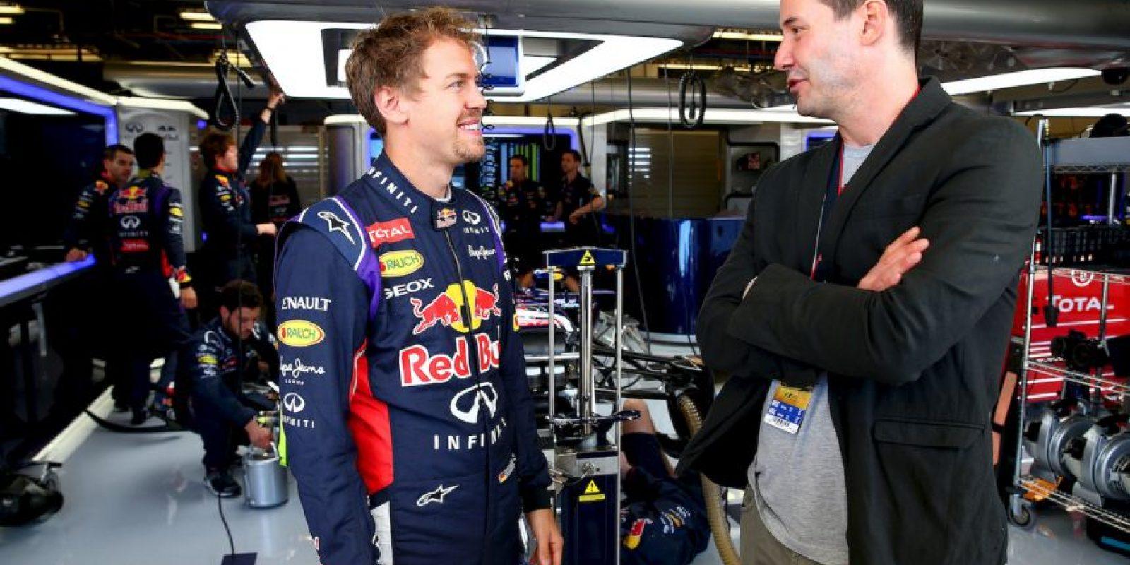 Junto al tetracampeón mundial de F1. el alemán Sebastian Vettel Foto:Getty Images