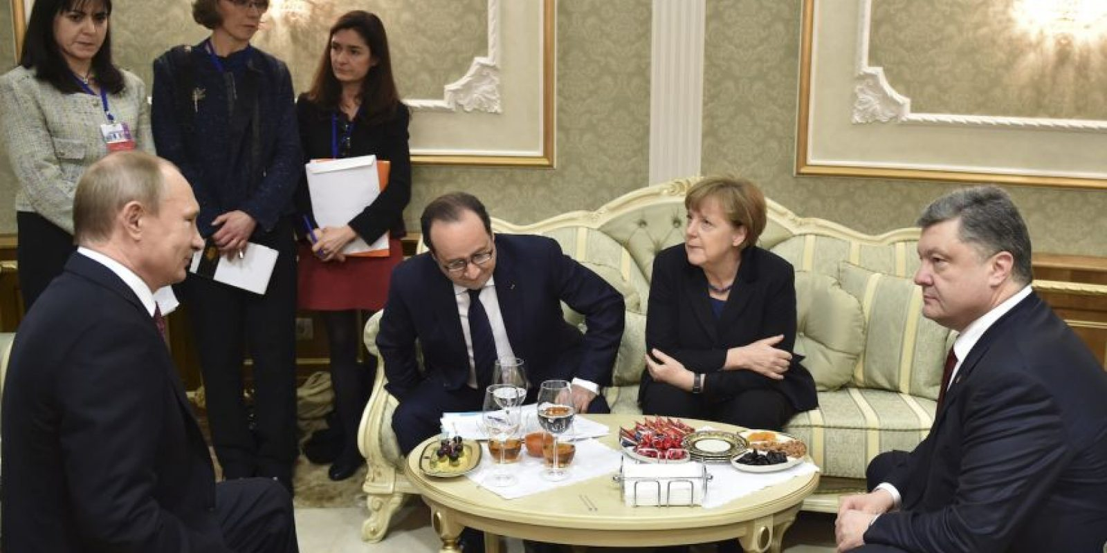 La reunión de los líderes ser realizó en Minsk. Foto:AP