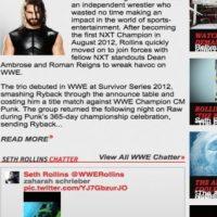 El post de Rollins apareció en el portal de la WWE Foto:WWE