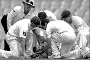 """Tercer lugar """"Deportes"""": Mark Metcalfe captó el momento en que médicos tratan de ayudar a Phillip Hughes, quien murió tras recibir un impacto en la cabeza en un partido de cricket Foto:World Press Photo 2015"""
