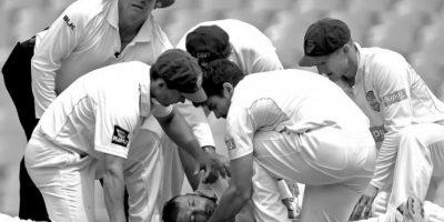 """Tercer lugar """"Deportes"""": Mark Metcalfe captó el momento en que médicos tratan de ayudar a Phillip Hughes, quien murió tras recibir un impacto en la cabeza en un partido de críquet. Foto:World Press Photo 2015"""