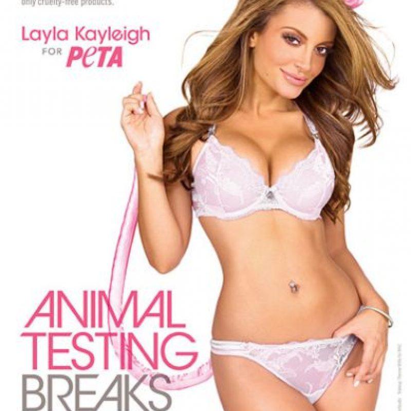 La celebridad inglesa Layla Keyleigh Foto:PETA.org