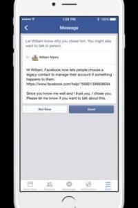 """Cuando definan a su """"Legacy contact"""", Facebook le enviará un mensaje para informarle. Foto:Facebook"""
