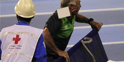 Castro se desesperó en un encuentro de la Liga colombiana. Foto:Twitter