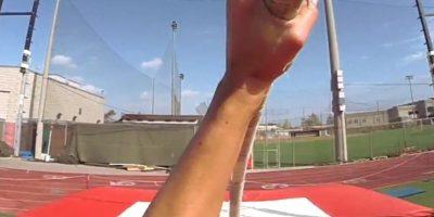 Este es el esfuerzo que realiza para poder saltar. Foto:GoPro GoPro