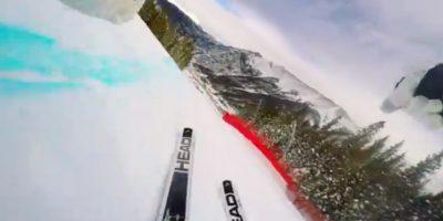 Julia Mancuso baja una colina a máxima velocidad. Foto:GoPro