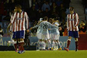 El Atlético cayó contra el Celta y se estacionó en la tercera plaza. Foto:AFP
