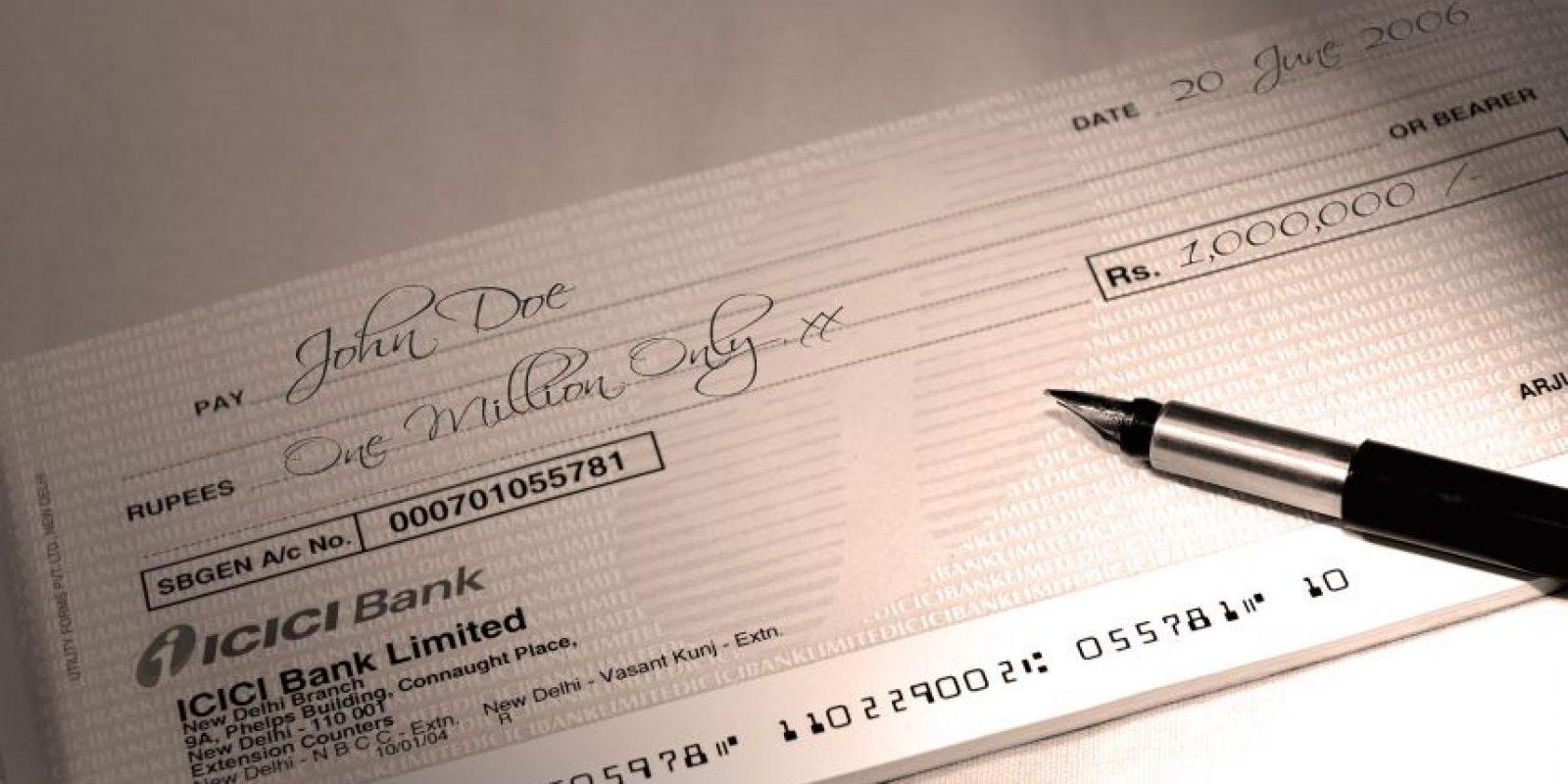 Cheques Foto:Agencias