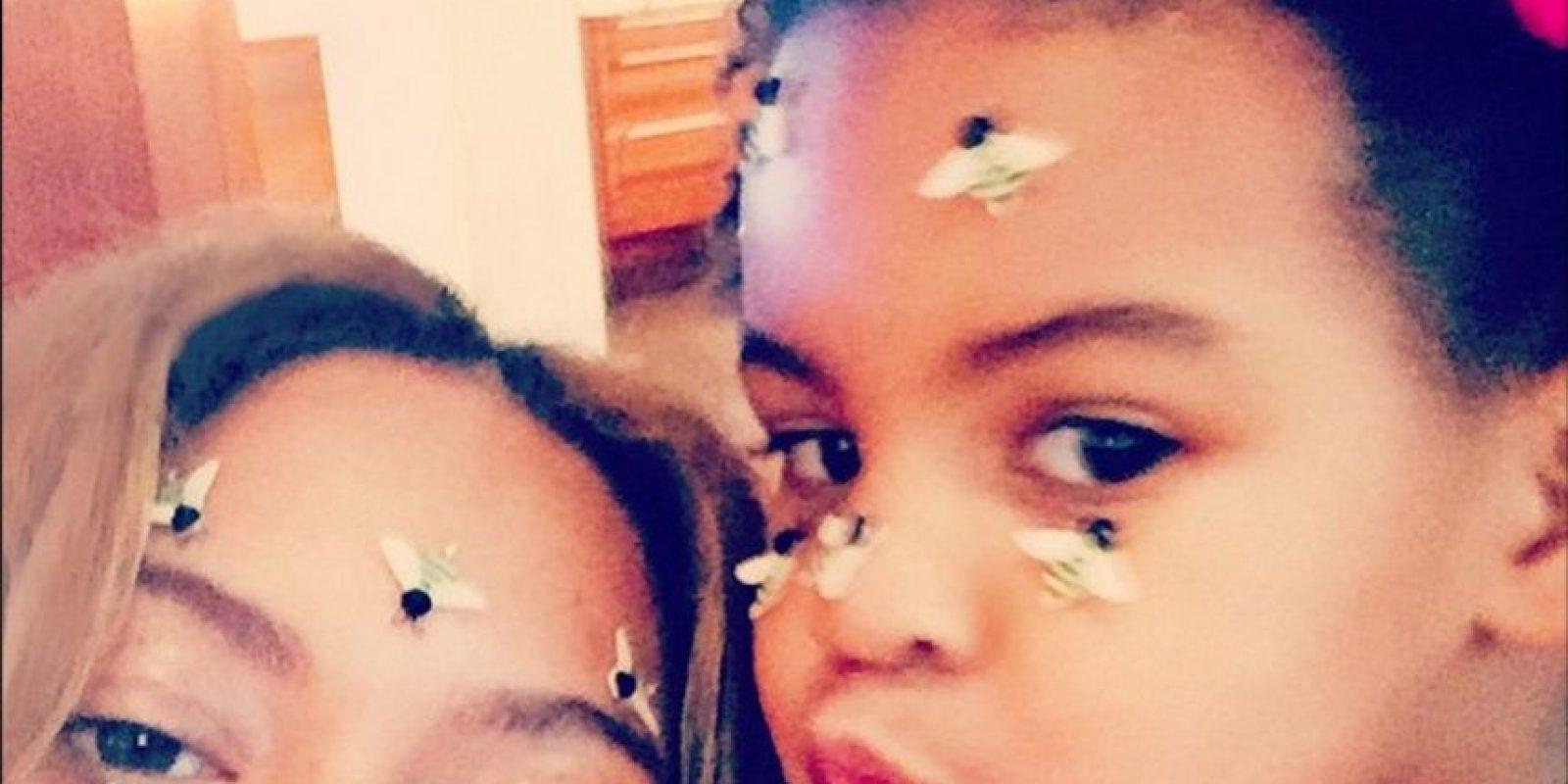 Beyoncé con Blue Ivy Foto:Instagram