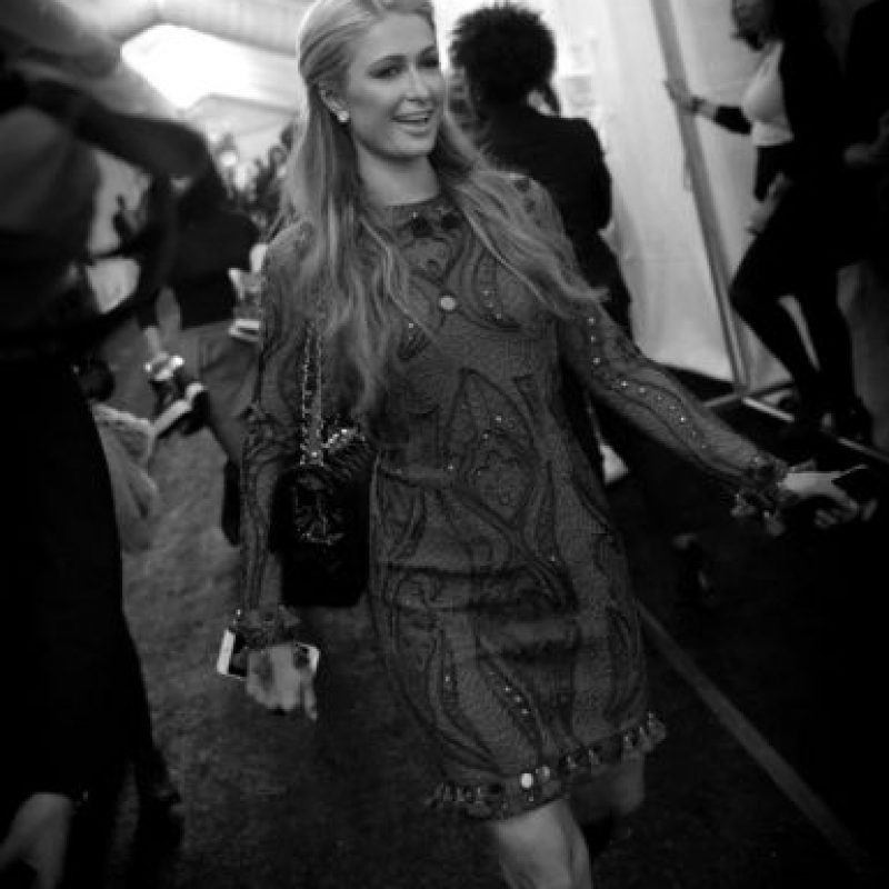 Paris Hilton también desfiló Foto:AFP