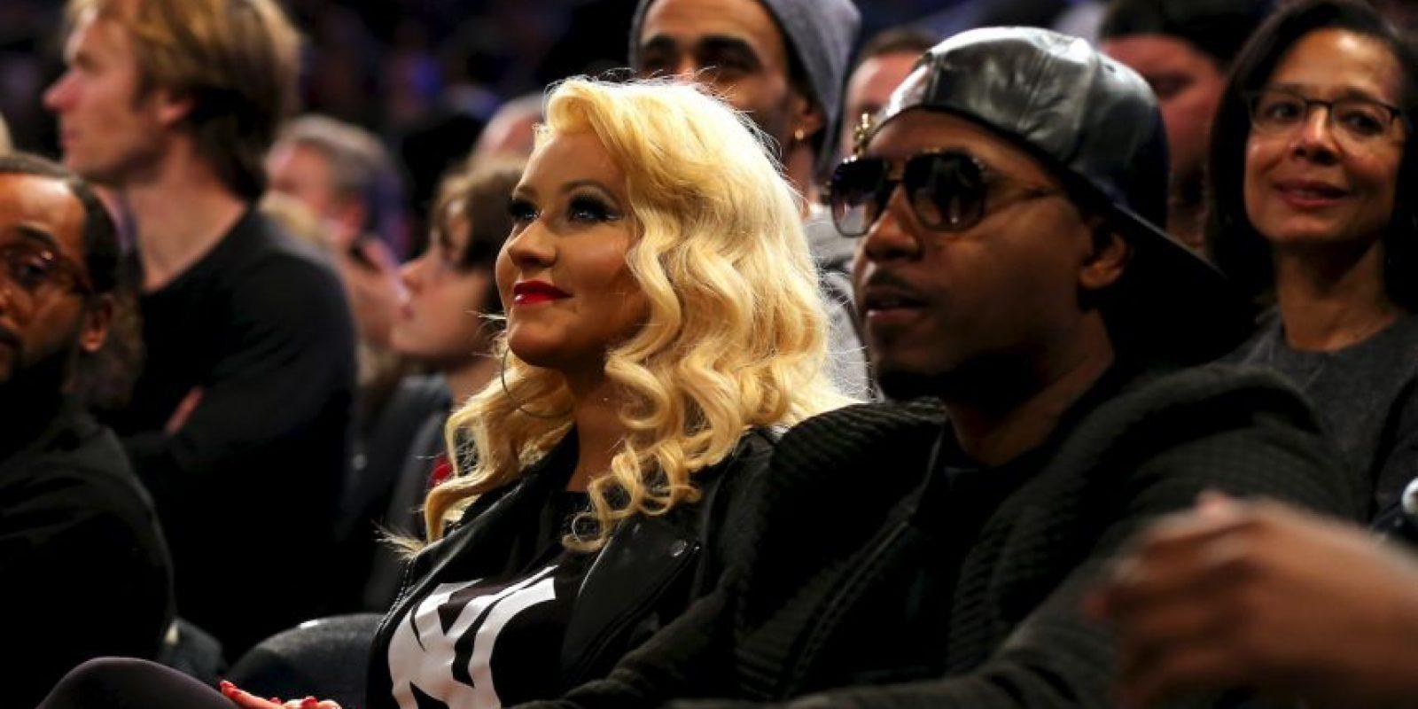 Christina Aguilera,q uien también actuó en el medio tiempo. Foto:Getty Images