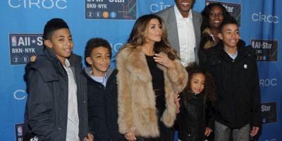 El ex basquetbolista Scottie Pippen junto a su familia Foto:Getty Images