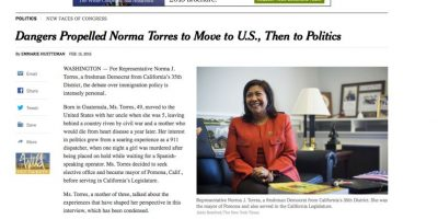 Esto ha dicho Norma Torres al New York Times