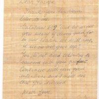 """Recibió respuesta: """"Gracias por tu carta. No te canses de hacer el bien porque a tu tiempo serás recompensado (pasaje bíblico, Gálatas 6:9). No necesitas de una celebridad para obtener tu dinero"""" Foto:Reddit"""