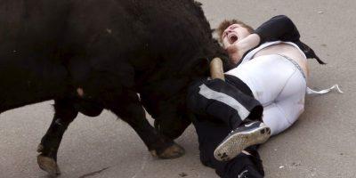 FOTOS: Tremenda cornada a un turista estadounidense en España