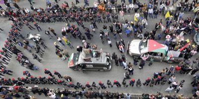 Múltiples manifestaciones se ha realizado desde el brutal asesinato del piloto. Foto:AFP