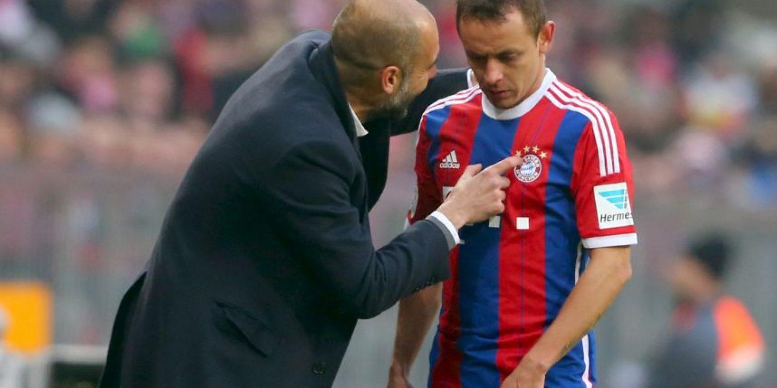 Del técnico Pep Guardiola Foto:Getty
