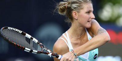 Karolina también tiene uno en el brazo izquierdo. Foto:Getty Images