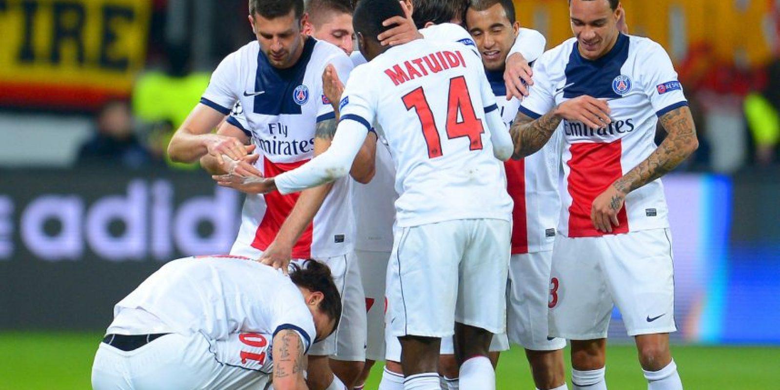 París Saint-Germain arriba a la llave como segundo lugar del Grupo F Foto:Getty